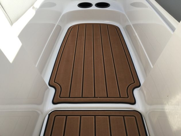 Faux Teak Is Curly A Very Por Choise For Boat Flooring It S Soft Non Skid Product Available In Brown Or Grey With Black Lines